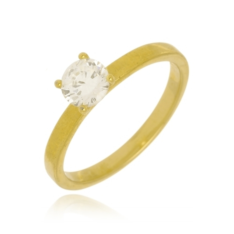 Anéis de Ouro Femininos Delicados Vila Boaçava - Anel de Ouro com Letra Feminino