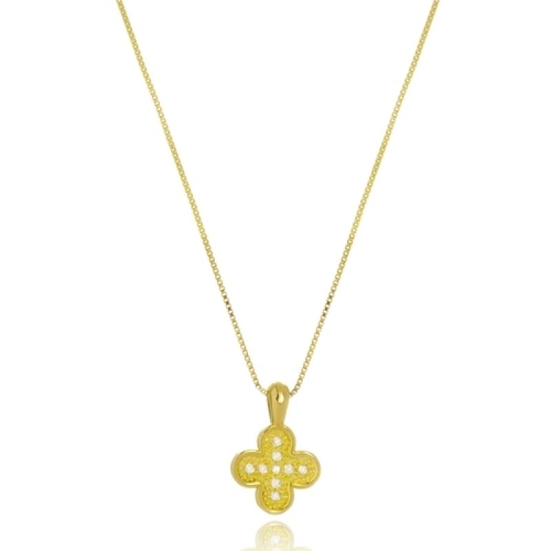 Colar de Ouro Feminino com Pingente Pirapora do Bom Jesus - Colar Feminino Ouro