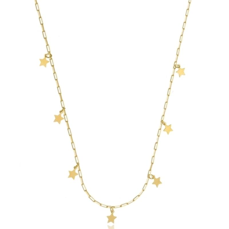 Colar de Ouro Jardim Guedala - Colar Ouro de Unicórnio Feminino