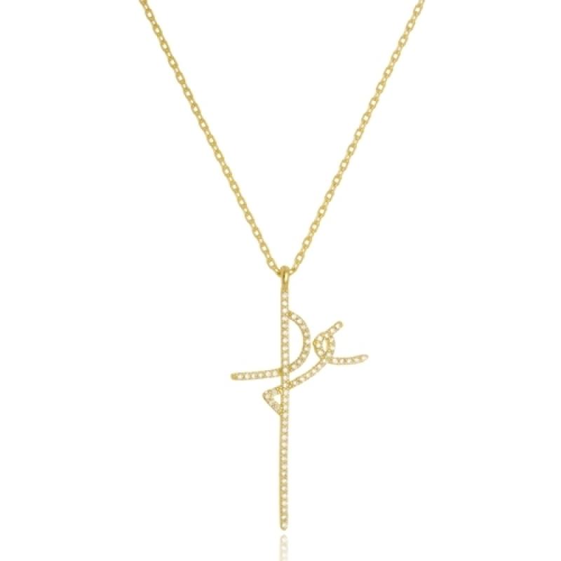 Colares de Ouro Femininos com Pingente Paulínia - Colar Feminino Folheado a Ouro