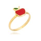 anel abc infantil de ouro