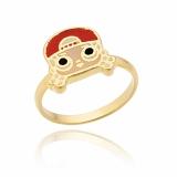 anel infantil folheado a ouro