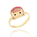 anel ouro unicórnio infantil