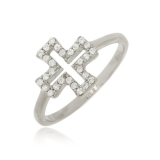 anel feminino prata Jardim Everest