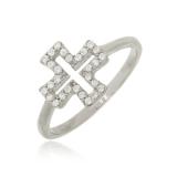 anel feminino prata Ponte Rasa