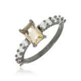 anel quadrado feminino para comprar Campo Limpo