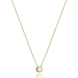 colar feminino folheado a ouro e prata