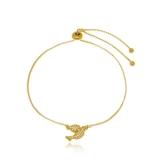 pulseira banhada a ouro feminina Brooklin