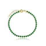 pulseira dourada feminina Araçoiabinha