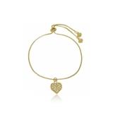 pulseira infantil de ouro com plaquinha Santo Amaro
