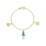 pulseiras de ouro femininas infantis Araçatuba