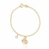 pulseira de ouro infantil unicórnio