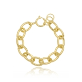 venda de pulseira de ouro feminina argola Jundiaí