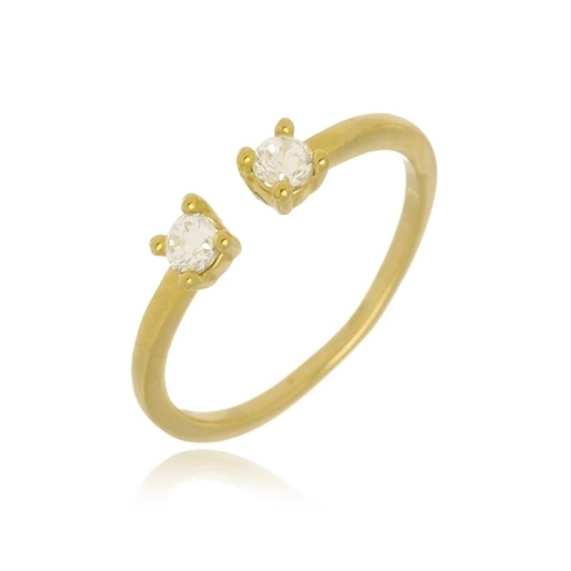Anel Ouro Feminino Sacomã - Anel de Ouro Feminino Delicado