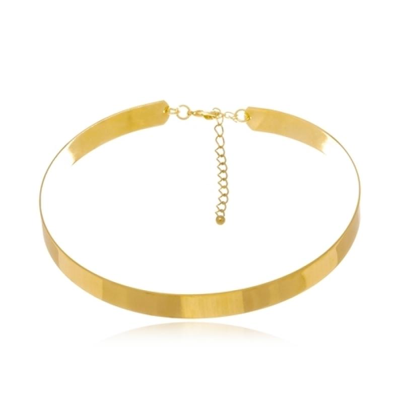 Colar Feminino de Ouro Vargem Grande Paulista - Colar Feminino Banhado a Ouro