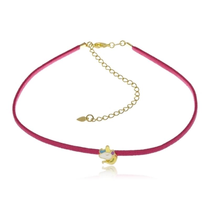 Colar Ouro de Unicórnio Feminino Jabaquara - Colar Ouro