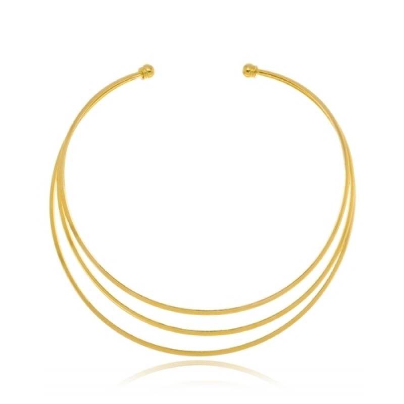 Loja Que Vende Colar de Ouro Feminino Grosso Vargem Grande Paulista - Colar Feminino Folheado a Ouro