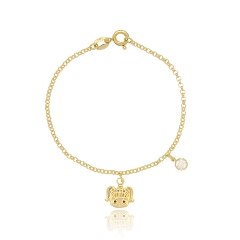 Loja Que Vende Pulseira Infantil de Ouro Unicórnio Consolação - Pulseira de Ouro Infantil Unicórnio