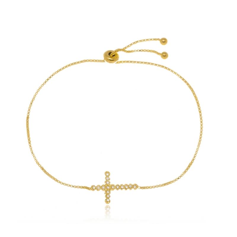 Preço de Pulseira de Ouro Feminina com Pingente Taboão da Serra - Pulseira de Ouro Feminina