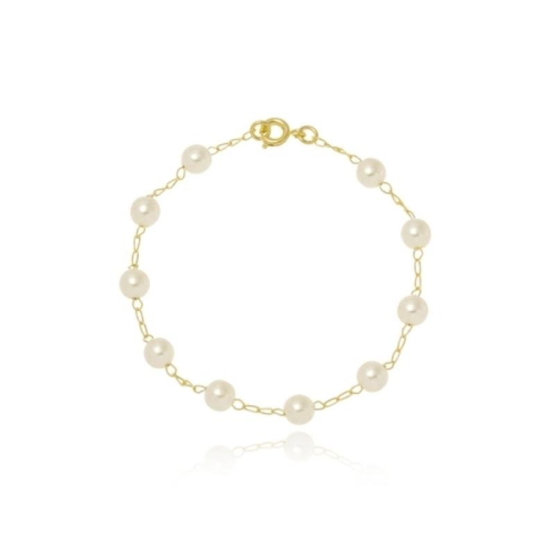 Pulseira de Ouro Feminina Delicada para Comprar Juquitiba - Pulseira Banhada a Ouro Feminina