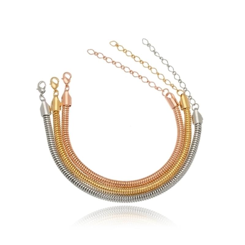 Pulseira de Ouro Feminina Grossa para Comprar Marapoama - Pulseira de Ouro Feminina Delicada