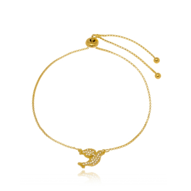 Pulseira de Ouro Feminina Diadema - Pulseira de Ouro Feminina Delicada