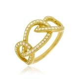 anel banhado a ouro feminino