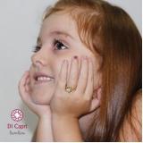 anel de ouro infantil unicórnio