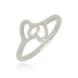 anel feminino prata