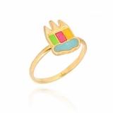 anel folheado ouro infantil