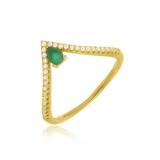 anéis folheados a ouro femininos Americana
