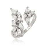 anel folheado em prata