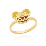 anel banhado a ouro unicórnio valores ABCD