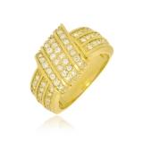 anel de ouro feminino largo orçar Santo Amaro