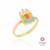 anel de ouro infantil feminino preço Água Bonita