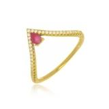 anel folheado a ouro feminino valor Santa Rita do Ribeira