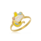 anel folheado a ouro infantil Jardim Everest