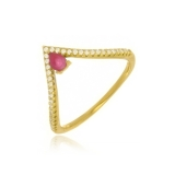 anel folheado de ouro preços Vargem Grande Paulista