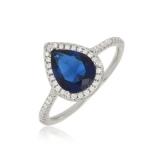 anel folheado pedra azul preços São Mateus