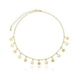 colar feminino folheado a ouro e prata Cidade Patriarca