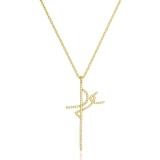 colares de ouro femininos com pingente Diadema