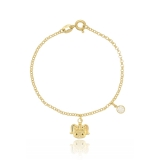 preço de pulseira de ouro infantil feminina São Caetano do Sul