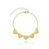 pulseira de ouro feminina com pingente para comprar Vila Suzana