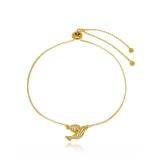 pulseira de ouro feminina com pingente Jardim Bonfiglioli