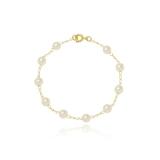 pulseira de ouro feminina delicada para comprar Vila Andrade