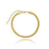 pulseiras de ouro femininas argola Rio Claro