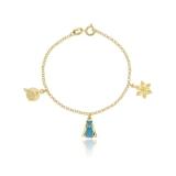 pulseiras de ouro femininas infantis Cidade Dutra