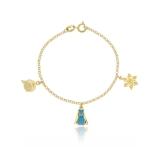 venda de pulseira de ouro infantil feminina Socorro