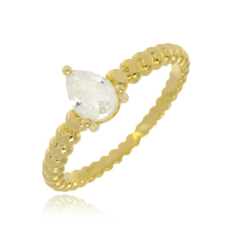 Valor de Anel de Ouro Feminino com Pedra ALDEIA DA SERRA - Anel Quadrado de Ouro Feminino